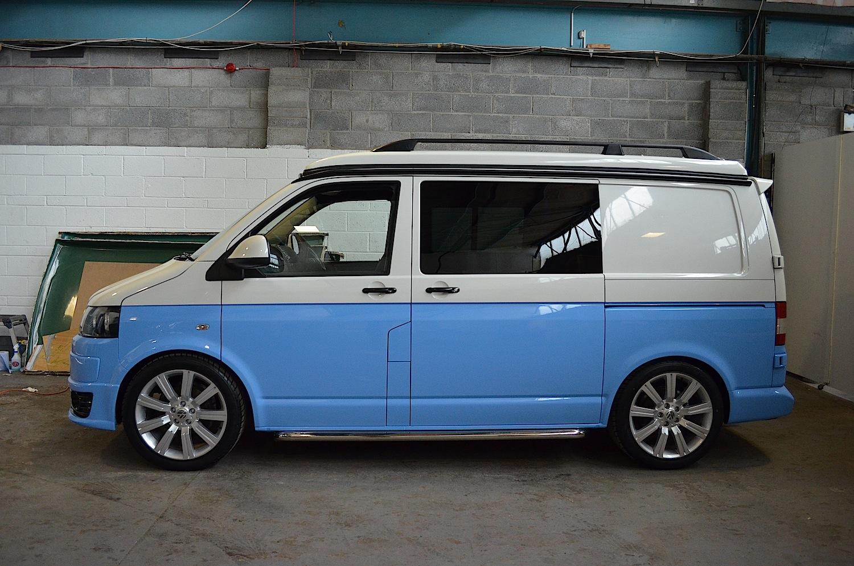 Steve White Vw >> Two Tone Vw Camper Conversion Blue White T5 Camper
